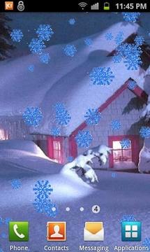 Galaxy S3 Snowfall LWP
