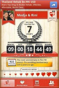 结婚周年计数器