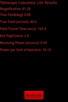Telescope Calculator Lite