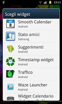 Timestamp widget