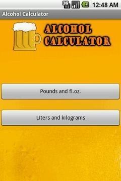 Simple Alcohol Calculator