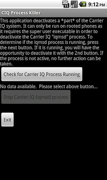 Carrier IQ Process Killer
