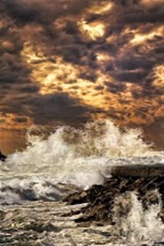 汹涌大海hd动态壁纸