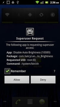 Disable Auto Brightness Xperia