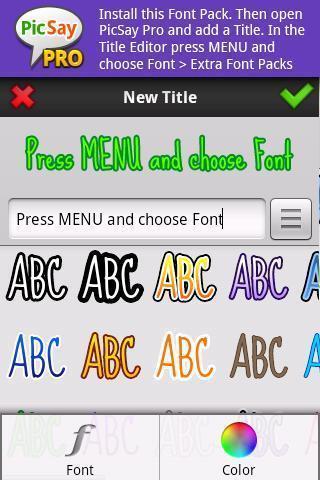 PicSay Pro Font Pack - B