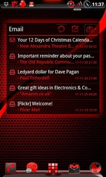 GOWidget BloodRed ICS - Free