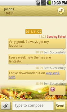 Wali SMS Theme:Golden Thanks-giving
