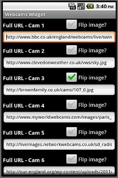 Webcams Widget Demo
