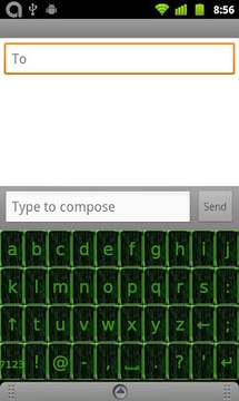 Slide Keyboard 2 黑客帝国皮肤