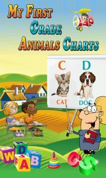 My First Grade Animals Charts