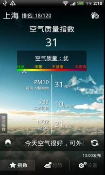 墨迹空气指数