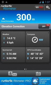 海拔测量仪 runtastic Altimeter