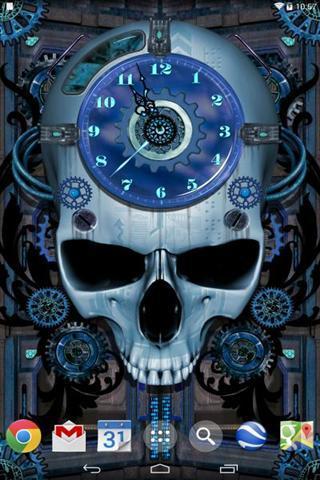 骷髅时钟动态壁纸下载|骷髅时钟动态壁纸手机版_最新
