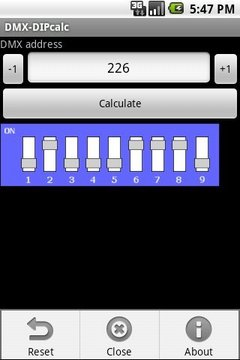 DMX-DIP calculator