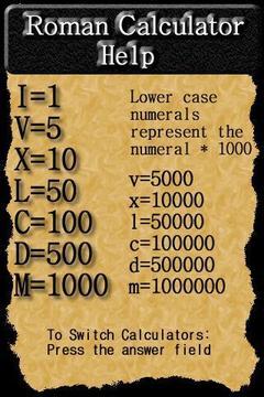Roman Numeral Calculator