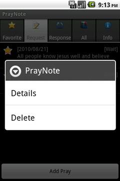 PrayNote