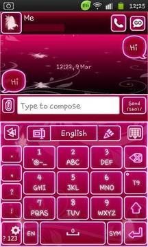 Go Keyboard Fairy Pink