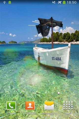 船和大海的动态壁纸