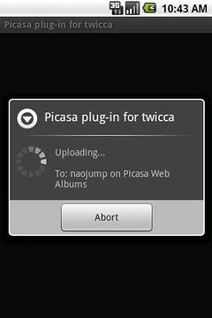Picasa plug-in for twicca