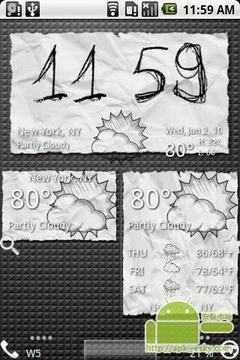 脏纸天气图标