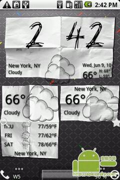 纸制天气图标