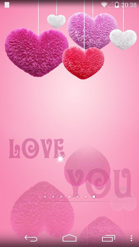 超萌,可爱的粉色壁纸,心心相印,永远相爱.