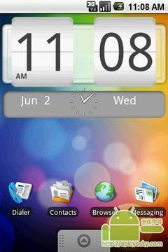 Android系统的FlipClock4X2版