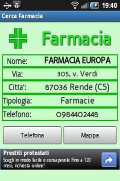 Cerca Farmacia