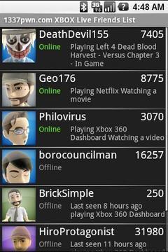 微软游戏在线好友