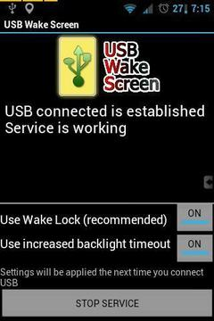 USB Wake Screen