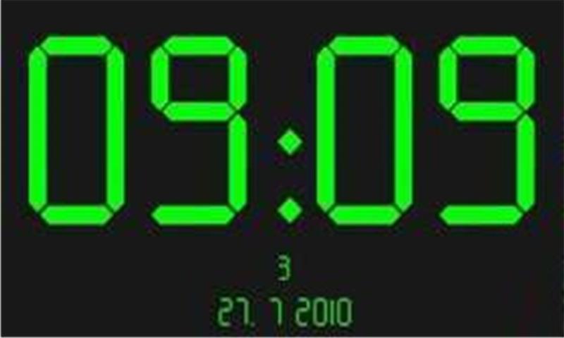 digital clock 数字钟