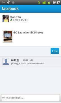 GO FB小部件