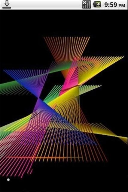炫彩激光动态壁纸下载图片