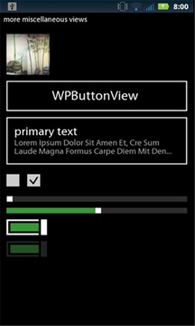 Windows Phone 7 UI - Free Demo