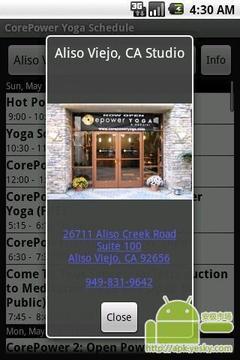CorePower瑜伽附表