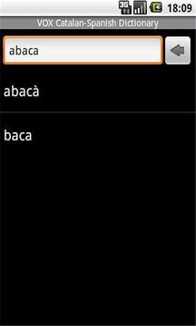 加泰罗尼亚语 - 西班牙语字典