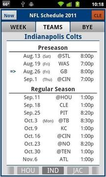 NFL 2012 Schedule