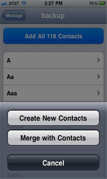 Delete All Contacts
