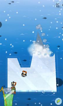 疯狂企鹅切冰块