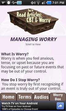 Worry Box---Anxiety Self-Help