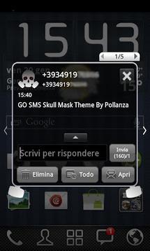 GO短信头骨防毒面具