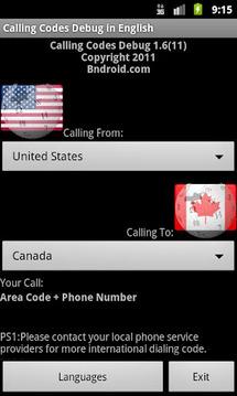 Calling Codes Ad
