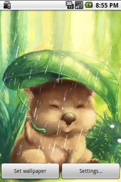 遮雨袋熊动态壁纸版本