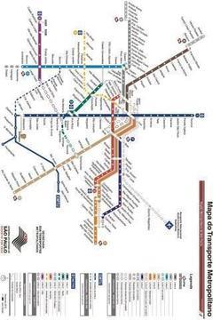 圣保罗地铁地图