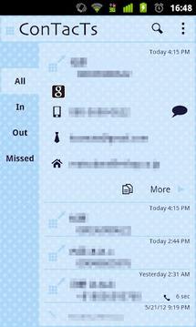 电话预订ConTacTs可爱的蓝