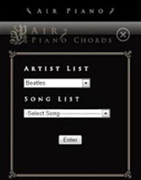 即使您没有钢琴知识也可享受音乐 Air Piano
