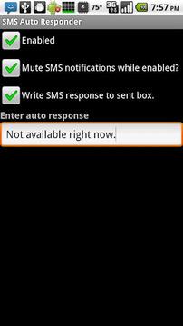 短信 自动响应