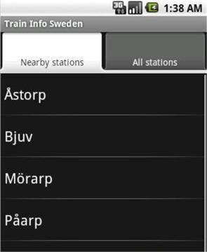 瑞典列车信息