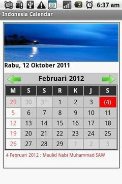 Indonesia Calendar