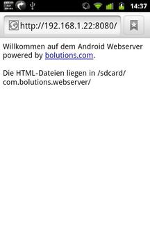 Android Webserver